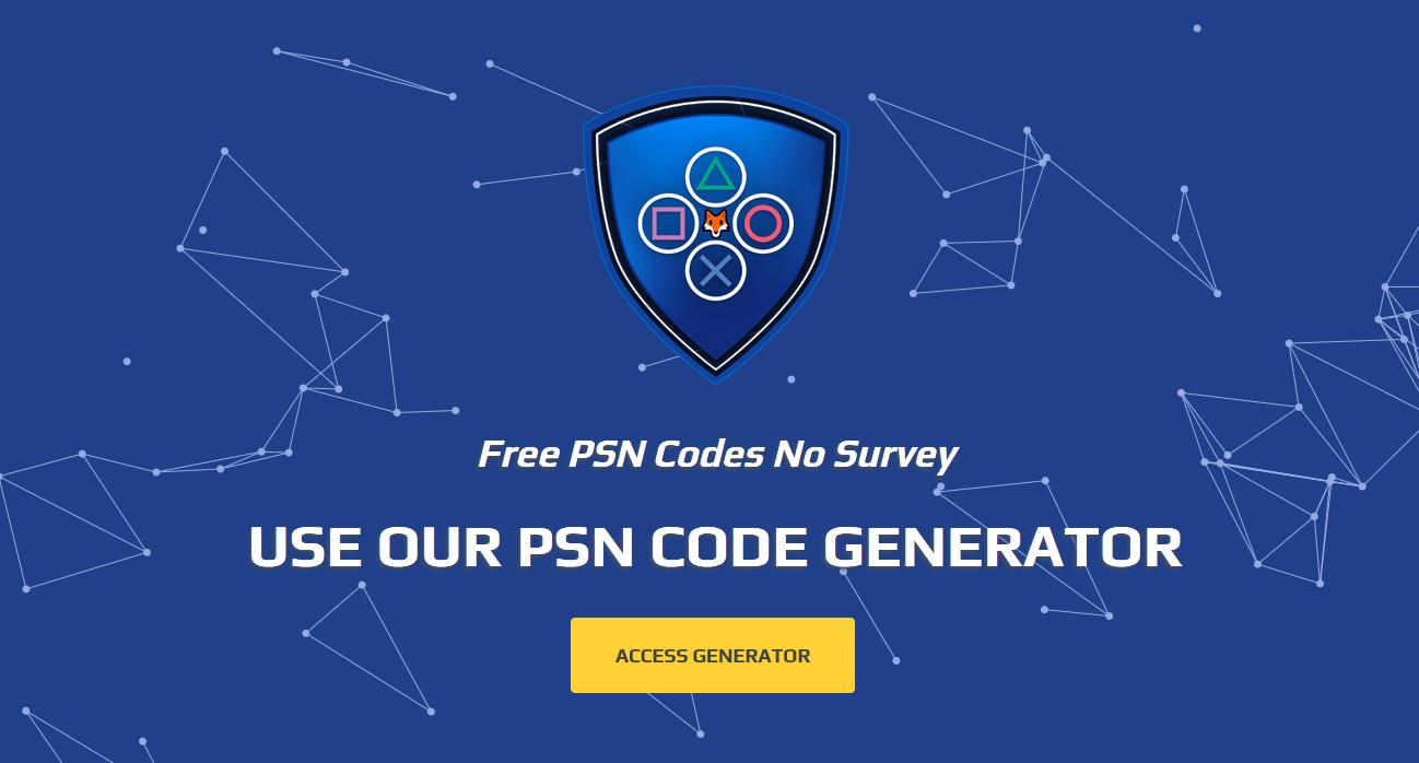 Free PSN Codes | PSN Code Generator | PSNFox